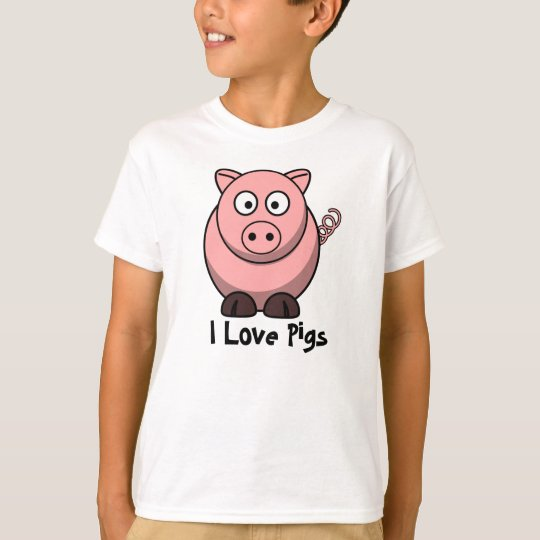 I Love Pigs Child's T-shirt
