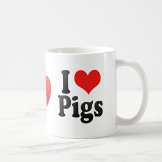 I Love Pigs Coffee Mug
