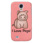 I Love Pigs Galaxy S4 Case