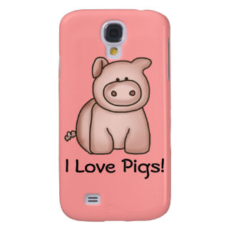 I Love Pigs Galaxy S4 Case