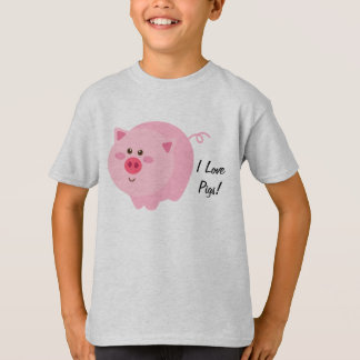 I Love Pigs Kids T-Shirt