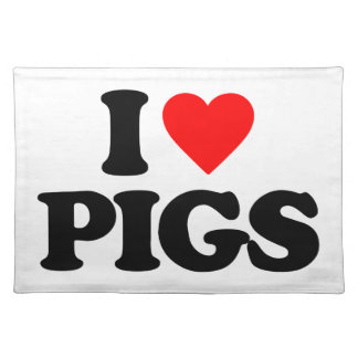 I LOVE PIGS PLACE MATS