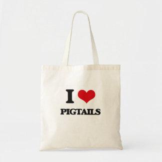 I Love Pigtails Tote Bag