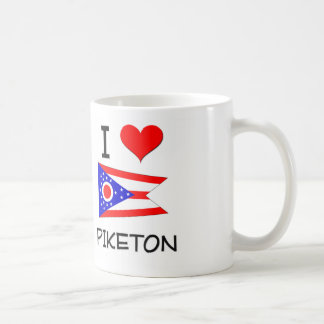I Love Piketon Ohio Basic White Mug