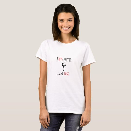 I love pilates and dogs women T-shirt