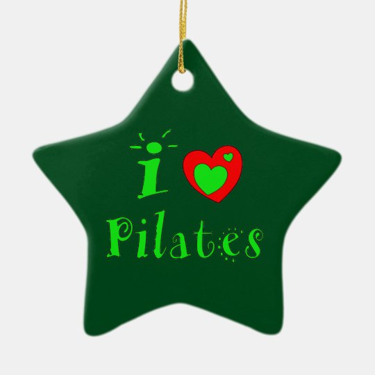I Love Pilates - Christmas Ornament