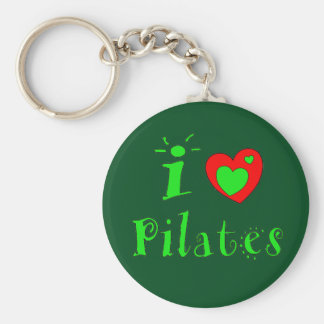 I Love Pilates Keychain