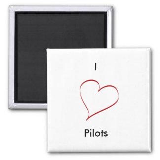 I love pilots magnet