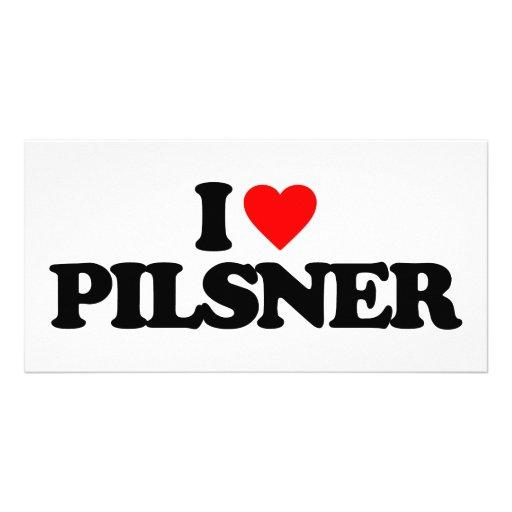 I LOVE PILSNER PHOTO CARD TEMPLATE