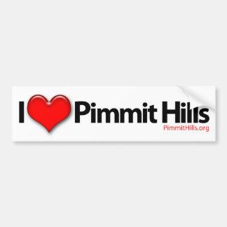 I Love Pimmit Hills Bumper Sticker