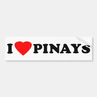 I Love Pinays Bumper Sticker