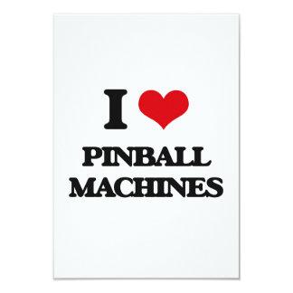 I Love Pinball Machines 9 Cm X 13 Cm Invitation Card