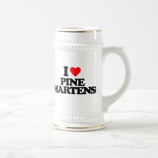 I LOVE PINE MARTENS BEER STEINS