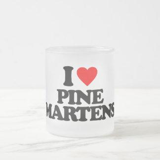 I LOVE PINE MARTENS FROSTED GLASS MUG
