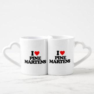 I LOVE PINE MARTENS LOVERS MUG SETS