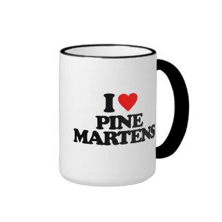 I LOVE PINE MARTENS RINGER MUG