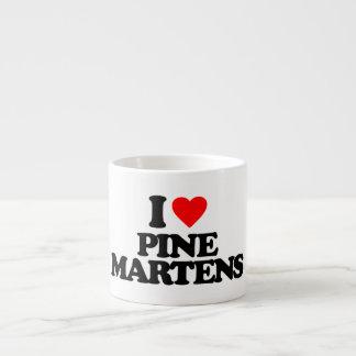 I LOVE PINE MARTENS ESPRESSO MUGS