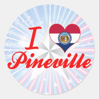 I Love Pineville, Missouri Stickers