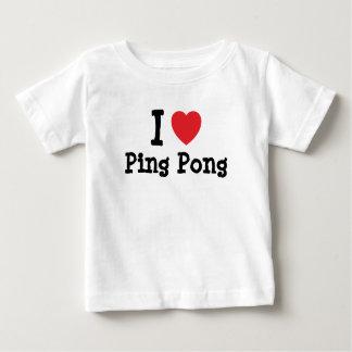 I love Ping Pong heart custom personalized Tshirt