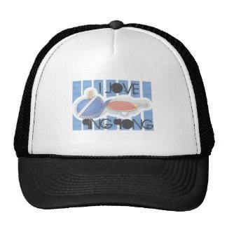 I Love Ping Pong Ping Pong Dude Hats