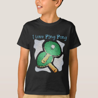 I Love Ping Pong Power Table Tennis T Shirt