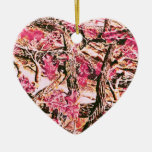 I Love Pink Camo Christmas Tree Ornaments