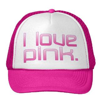 I Love Pink Girlfriend s Birthday Valentine s Day Mesh Hat