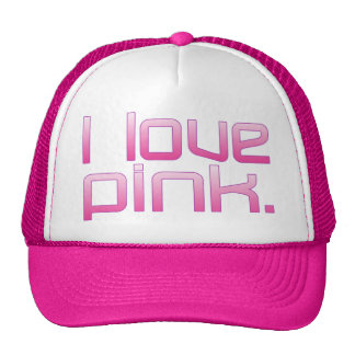 I Love Pink Girlfriend's Birthday Valentine's Day Cap