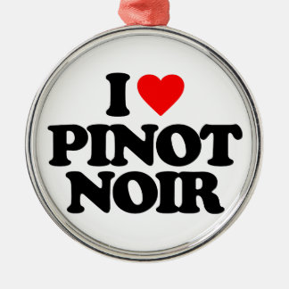 I LOVE PINOT NOIR CHRISTMAS ORNAMENT