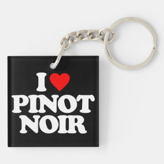 I LOVE PINOT NOIR Double-Sided SQUARE ACRYLIC KEYCHAIN
