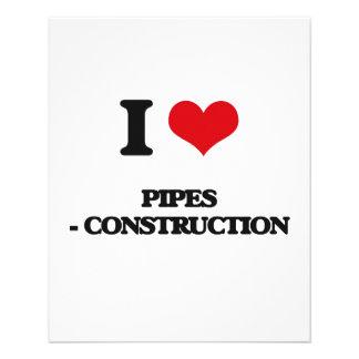 I Love Pipes - Construction 11.5 Cm X 14 Cm Flyer