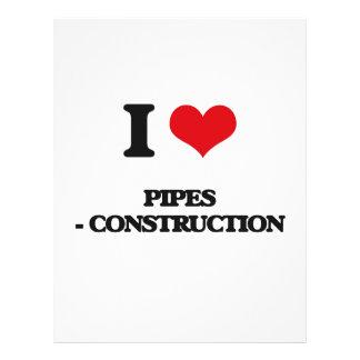 I Love Pipes - Construction 21.5 Cm X 28 Cm Flyer