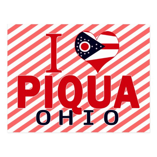I love Piqua, Ohio Postcard
