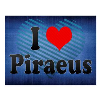 I Love Piraeus, Greece Postcard