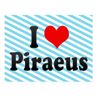 I Love Piraeus Greece Postcards