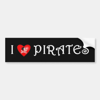 I Love Pirates (4) Bumper Sticker