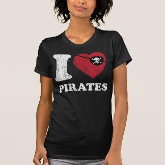 i Love Pirates- Cool Vintage Retro Style T Shirt