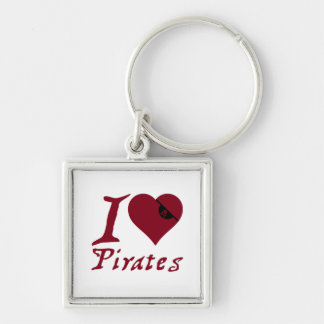 I Love Pirates Key Chains