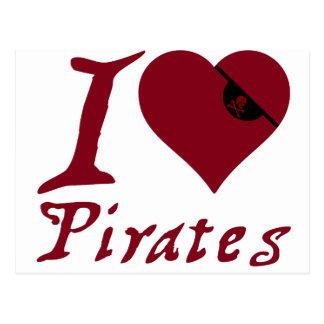 I Love Pirates Postcard
