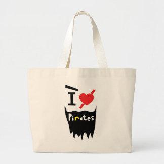 I love Pirates Jumbo Tote Bag