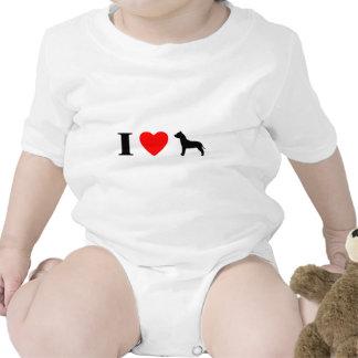 I Love Pit Bulls Baby Creeper