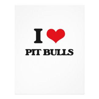 I love Pit Bulls 21.5 Cm X 28 Cm Flyer