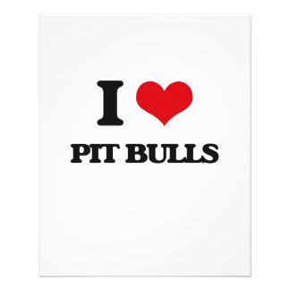 I love Pit Bulls 11.5 Cm X 14 Cm Flyer