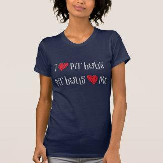I Love Pit Bulls - Pit Bulls Love Me Tee Shirts