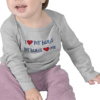 I Love Pit Bulls - Pit Bulls Love Me T-shirt