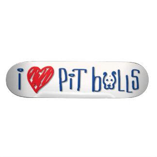 I Love Pit Bulls Custom Skateboard