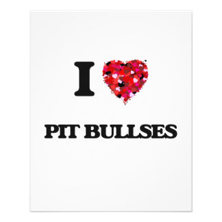 I love Pit Bullses 11.5 Cm X 14 Cm Flyer