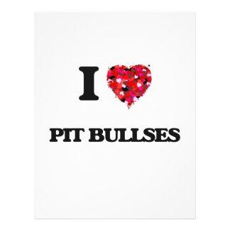 I love Pit Bullses 21.5 Cm X 28 Cm Flyer