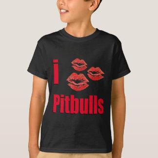 I Love Pitbull Dogs, Lipstick Kisses Crazy T-Shirt