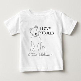 I Love Pitbulls Baby T-Shirt